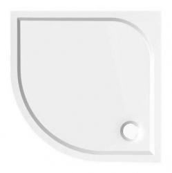AQUALINE - SEMI 90 sprchová vanička z litého mramoru, čtvrtkruh 90x90x3 cm, R55 (HQ559R)