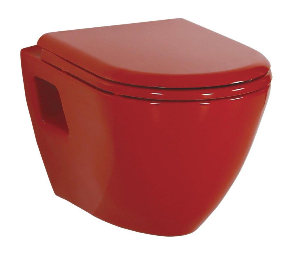 SAPHO PAULA WC závěsné 35,5x50cm, červená (TP325.70100) TP325-11KI Sapho