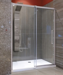 Aquatek - Admiral B2 - Luxusní sprchové dveře zasouvací 137-141cm, sklo 8mm, varianta levá (ADMIRALB2140-13)