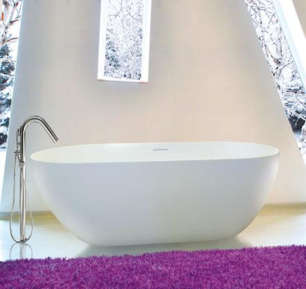 Aquatek CINDY 150x75cm koupací vana z litého mramoru CINDY150