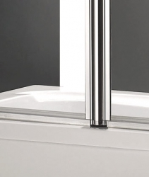 Aquatek - GLASS L2 100x140cm Vanová zástěna dvoudílná, výplň sklo - frost (GLASSL2-21), fotografie 4/2