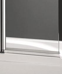 Aquatek - GLASS L2 100x140cm Vanová zástěna dvoudílná, výplň sklo - čiré (GLASSL2-06), fotografie 2/2