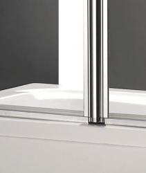 Aquatek - GLASS L2 100x140cm Vanová zástěna dvoudílná, výplň sklo - čiré (GLASSL2-06), fotografie 4/2