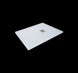 Aquatek - Hard TOP 100x70 sprchová vanička z litého mramoru s břidlicovým povrchem bílá (HARDTOP10070B)