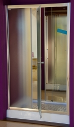 Aquatek - Master B5 110 Sprchové dveře do niky- 106,5-110,5cm, matné sklo (MASTERB5110), fotografie 8/9