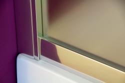 Aquatek - Master B5 110 Sprchové dveře do niky- 106,5-110,5cm, matné sklo (MASTERB5110), fotografie 16/9