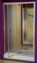 Aquatek - Master B5 115 Sprchové dveře do niky- 111,5-115,5cm, matné sklo (MASTERB5115), fotografie 10/9
