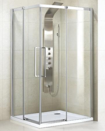 Aquatek - ADMIRAL R14 Chrom Luxusní sprchová zástěna obdélníková 100x80cm , sklo 8mm, varianta levá (ADMIRALR14-13)