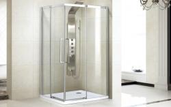 Aquatek - ADMIRAL R14 Chrom Luxusní sprchová zástěna obdélníková 100x80cm , sklo 8mm, varianta levá (ADMIRALR14-13), fotografie 2/4