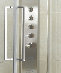 Aquatek - ADMIRAL R14 Chrom Luxusní sprchová zástěna obdélníková 100x80cm , sklo 8mm, varianta levá (ADMIRALR14-13), fotografie 8/4