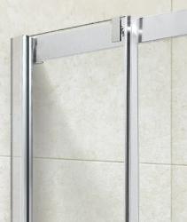 Aquatek - ADMIRAL R14 Chrom Luxusní sprchová zástěna obdélníková 100x80cm , sklo 8mm, varianta levá (ADMIRALR14-13), fotografie 4/4