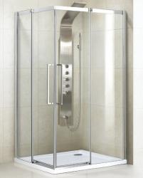 Aquatek - ADMIRAL R14 Chrom Luxusní sprchová zástěna obdélníková 100x80cm , sklo 8mm, varianta pravá (ADMIRALR14-12)
