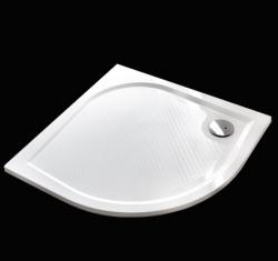 Aquatek - Bent 90 sprchová vanička z litého mramoru čtvrtkruhová s protiskluzovou úpravou (BENT90)