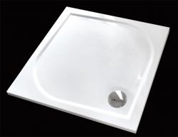 Aquatek - Bent 90x90cm sprchová vanička z litého mramoru čtvercová s protiskluzovou úpravou (BENT90CTV)