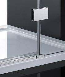 Aquatek - CRYSTAL R33 CHROM Sprchová zástěna čiré sklo 8mm 120x90x200cm (CRYSTALR33), fotografie 6/3
