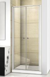 Aquatek - Family B02 CHROM Sprchové dveře do niky dvoukřídlé, 77-81 x 190cm, výplň sklo - grape (FAMILYB0280-19)