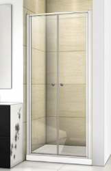 Aquatek - Family B02 CHROM Sprchové dveře do niky dvoukřídlé, 87-91 x 190cm, výplň sklo - čiré (FAMILYB0290-06)