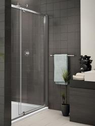 Aquatek - Family B5 CHROM Sprchové dveře do niky jednokřídlé, 94-104 x 190cm, výplň sklo - grape (FAMILYB5100-19)