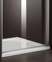 Aquatek - Glass B1 85 sprchové dveře do niky jednokřídlé 81-85cm, barva rámu bílá, výplň sklo - matné (GLASSB185-167), fotografie 4/6