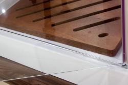 Aquatek - Glass B1 85 sprchové dveře do niky jednokřídlé 81-85cm, barva rámu bílá, výplň sklo - matné (GLASSB185-167), fotografie 10/6
