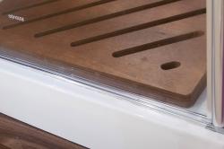 Aquatek - Glass B1 85 sprchové dveře do niky jednokřídlé 81-85cm, barva rámu bílá, výplň sklo - matné (GLASSB185-167), fotografie 8/6