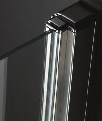 Aquatek - Glass B1 85 sprchové dveře do niky jednokřídlé 81-85cm, barva rámu chrom, výplň sklo - matné (GLASSB185-177), fotografie 2/6
