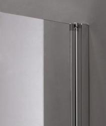 Aquatek - Glass B2 75 sprchové dveře do niky dvoukřídlé 72-76cm, barva rámu bílá, výplň sklo - matné (GLASSB275-167), fotografie 4/9