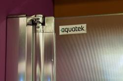 Aquatek - Glass B2 75 sprchové dveře do niky dvoukřídlé 72-76cm, barva rámu bílá, výplň sklo - matné (GLASSB275-167), fotografie 8/9