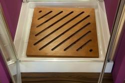 Aquatek - Glass B2 75 sprchové dveře do niky dvoukřídlé 72-76cm, barva rámu bílá, výplň sklo - matné (GLASSB275-167), fotografie 12/9