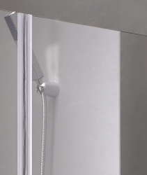 Aquatek - Glass B2 75 sprchové dveře do niky dvoukřídlé 72-76cm, barva rámu chrom, výplň sklo - matné (GLASSB275-177), fotografie 2/9