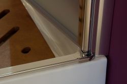 Aquatek - Glass B2 75 sprchové dveře do niky dvoukřídlé 72-76cm, barva rámu chrom, výplň sklo - matné (GLASSB275-177), fotografie 16/9
