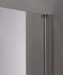 Aquatek - Glass B2 80 sprchové dveře do niky dvoukřídlé 77-81cm, barva rámu bílá, výplň sklo - matné (GLASSB280-167), fotografie 4/9