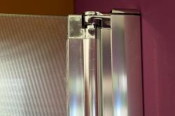 Aquatek - Glass B2 80 sprchové dveře do niky dvoukřídlé 77-81cm, barva rámu bílá, výplň sklo - matné (GLASSB280-167), fotografie 6/9