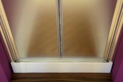 Aquatek - Glass B2 85 sprchové dveře do niky dvoukřídlé 82-86cm, barva rámu bílá, výplň sklo - matné (GLASSB285-167), fotografie 8/9
