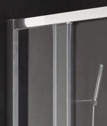 Aquatek - MASTER A4 80cm Chrom Sprchová zástěna čtvercová, barva rámu bílá, výplň sklo - čiré (MASTERA480-166), fotografie 2/3