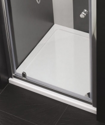 Aquatek - Master B1 100 sprchové dveře do niky jednokřídlé 96-100 cm, barva rámu bílá, výplň sklo - čiré (B1100-166), fotografie 4/3