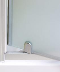 Aquatek - Master B1 100 sprchové dveře do niky jednokřídlé 96-100 cm, barva rámu bílá, výplň sklo - čiré (B1100-166), fotografie 6/3