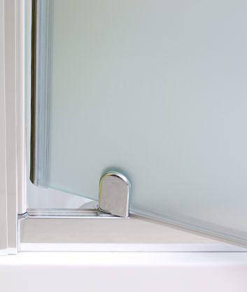 Aquatek - Master B1 80 sprchové dveře do niky jednokřídlé 76-80cm, barva rámu bílá, výplň sklo - čiré (B180-166)