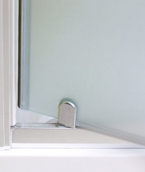 Aquatek - Master B1 80 sprchové dveře do niky jednokřídlé 76-80cm, barva rámu bílá, výplň sklo - matné (B180-167), fotografie 6/3