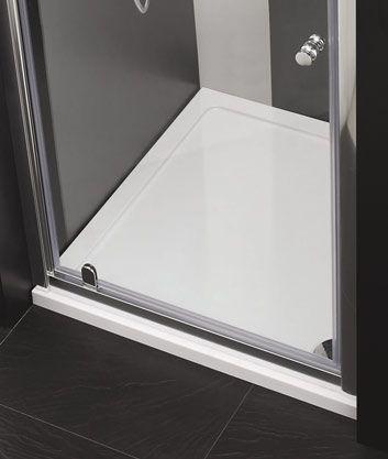 Aquatek - Master B1 85 sprchové dveře do niky jednokřídlé 81-85cm, barva rámu bílá, výplň sklo - matné (B185-167)