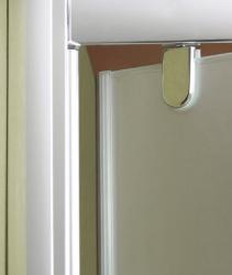 Aquatek - Master B1 90 sprchové dveře do niky jednokřídlé 86-90 cm, barva rámu chrom, výplň sklo - čiré (B190-176), fotografie 2/3