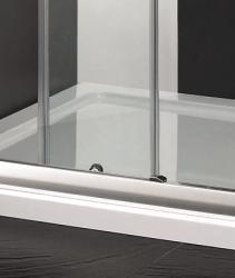 Aquatek - Master B2 sprchové dveře do niky zasouvací 116-120 cm, výplň sklo - čiré (B2120-06), fotografie 2/4