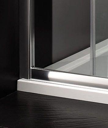 Aquatek - Master B2 sprchové dveře do niky zasouvací 116-120 cm, výplň sklo - čiré (B2120-06)