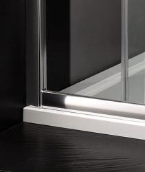 Aquatek - Master B2 sprchové dveře do niky zasouvací 126-130 cm, výplň sklo - čiré (B2130-06), fotografie 4/4