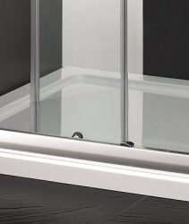 Aquatek - Master B2 sprchové dveře do niky zasouvací 131-135 cm, výplň sklo - čiré (B2135-06), fotografie 2/4