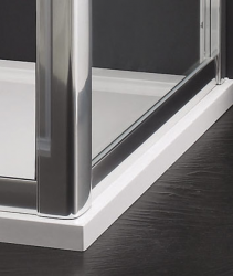 Aquatek - MASTER F1 70 Pevná boční stěna ke sprchovým dveřím, barva rámu bílá, výplň sklo - čiré (MASTER F170-166), fotografie 4/3