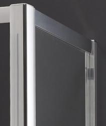Aquatek - MASTER F1 80 Pevná boční stěna ke sprchovým dveřím, barva rámu bílá, výplň sklo - matné (MASTER F180-167), fotografie 2/3