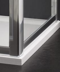 Aquatek - MASTER F1 80 Pevná boční stěna ke sprchovým dveřím, barva rámu bílá, výplň sklo - matné (MASTER F180-167), fotografie 4/3