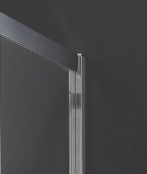 Aquatek - MASTER F1 80 Pevná boční stěna ke sprchovým dveřím, barva rámu bílá, výplň sklo - matné (MASTER F180-167), fotografie 6/3