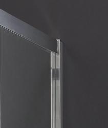 Aquatek - MASTER F1 90 Pevná boční stěna ke sprchovým dveřím, barva rámu chrom, výplň sklo - matné (MASTER F190-177), fotografie 6/3